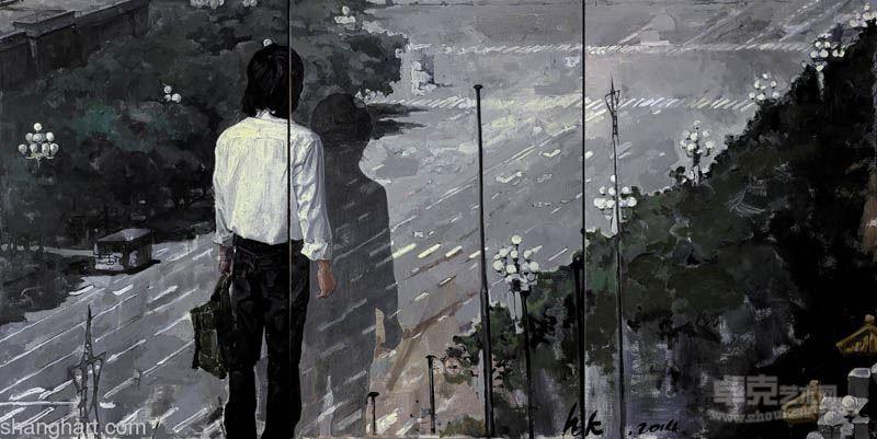 黄奎 熵增系列之弃2 布面油画2013