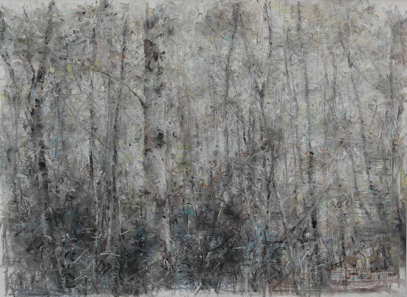 李强 风景 纸本色粉 69x49cm 2017年