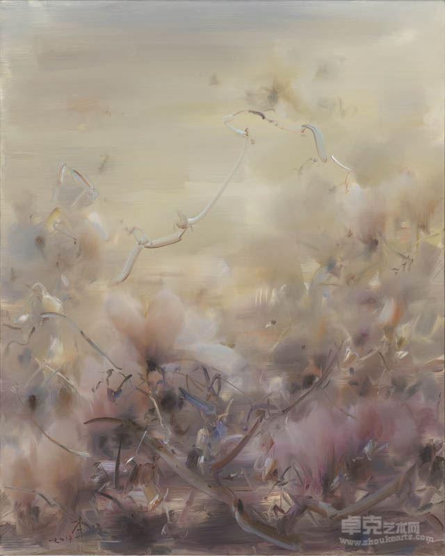 李强 花卉 布面油画 100x80cm 2017年