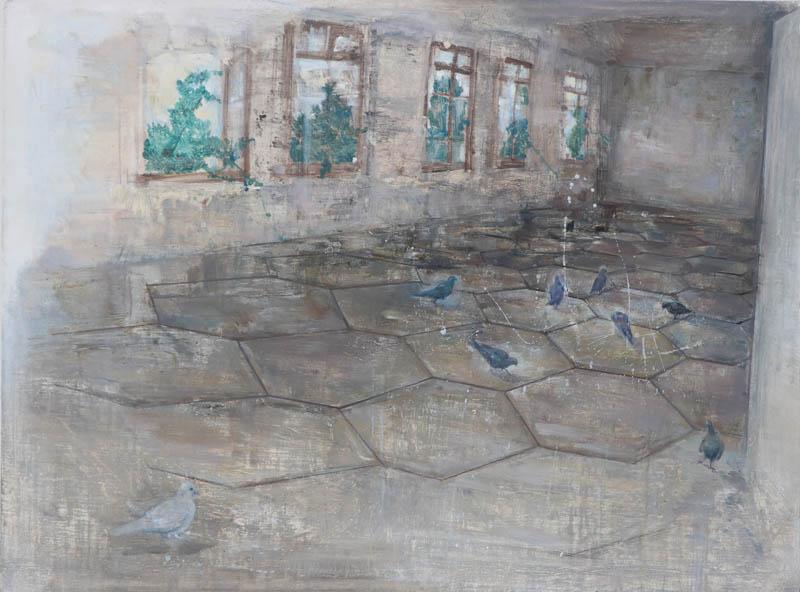 骆韬颖 鸟系列之一110x80cm 布面油画 2016年