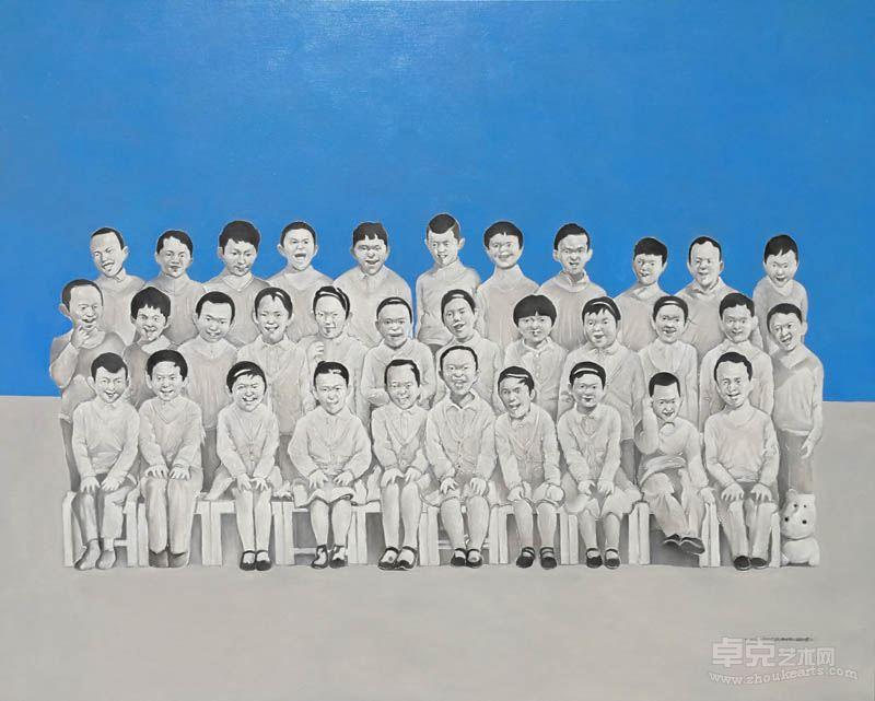 许永康 《集体幸福》布面油画,120x150cm,2016年