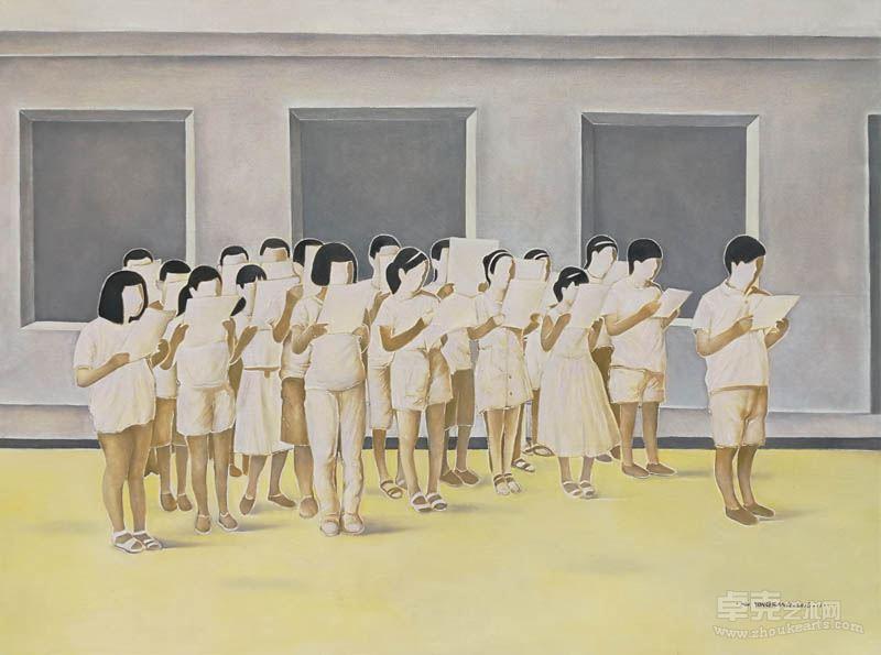 许永康 《早读》布面油画,120x90cm,2016年
