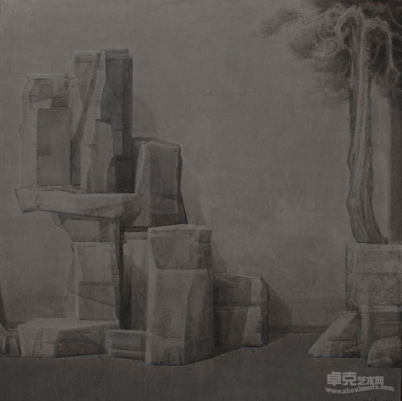 张发志 自然的界限-假山石7,100+100cm,2016年