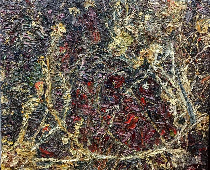 吴晓红 布面油画《禅藤》50cmX60cm2014年