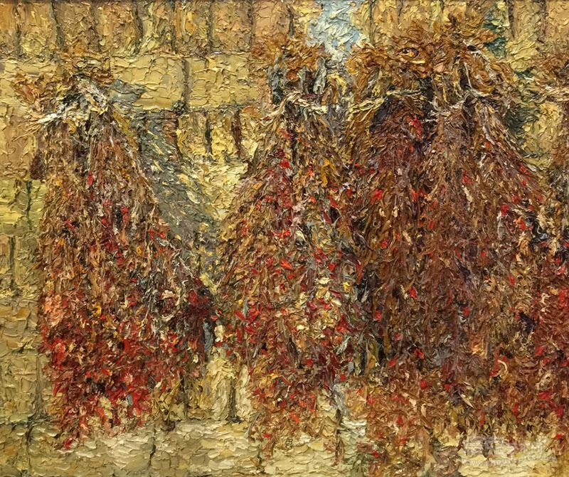 吴晓红 布面油画《种子》50cmX60cm2014年