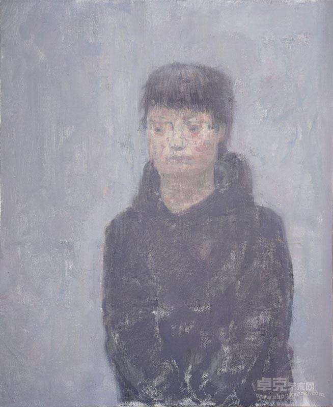 张扬 学生肖像  材料:布面油画尺寸:50×60(CM)时间:2017