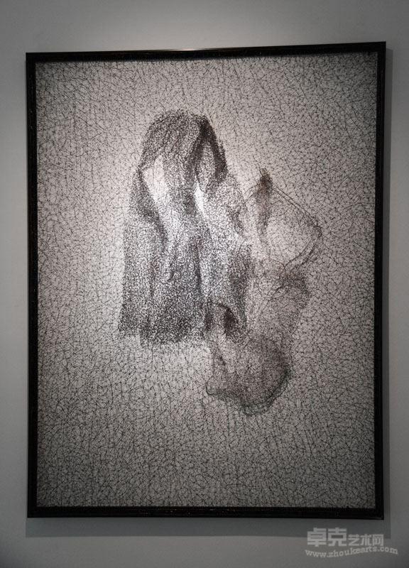 《变形的线—2》 不锈钢丝 ,157x120x4cm, 2017