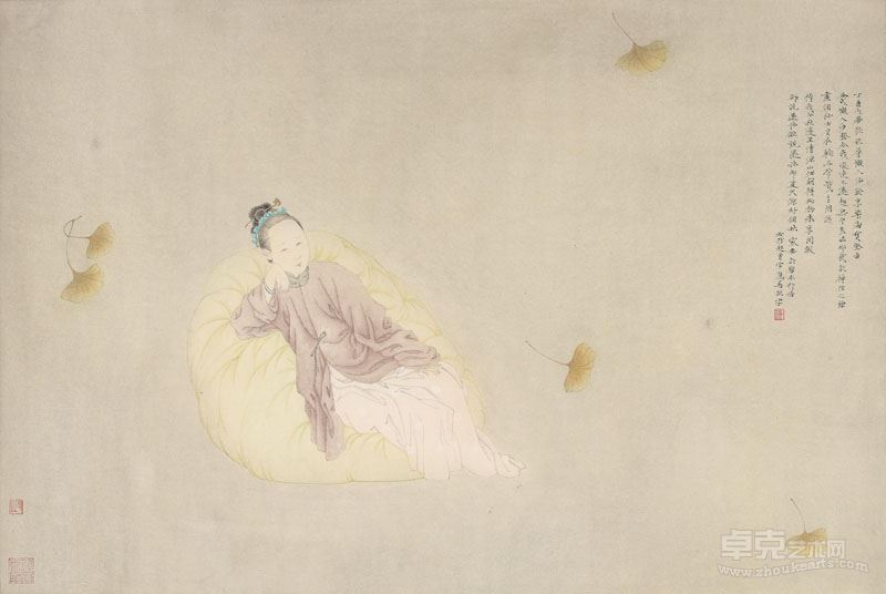 邓家安-秋叶图 46x70cm 纸本设色