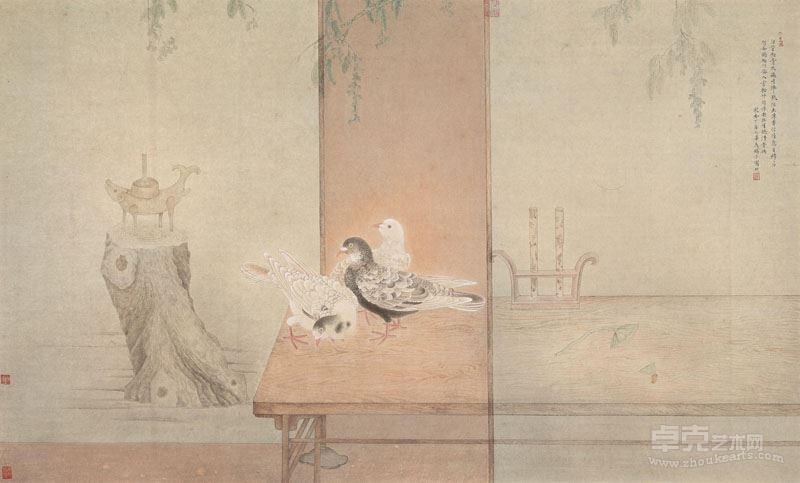 邓家安-幽意清音图58x97cm 纸本设色